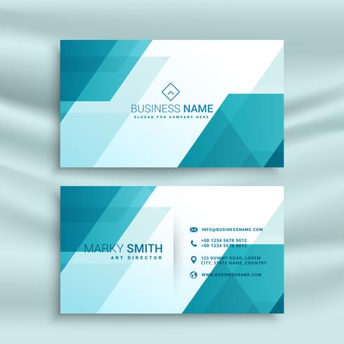 modern blue and white business card design template - Download Free