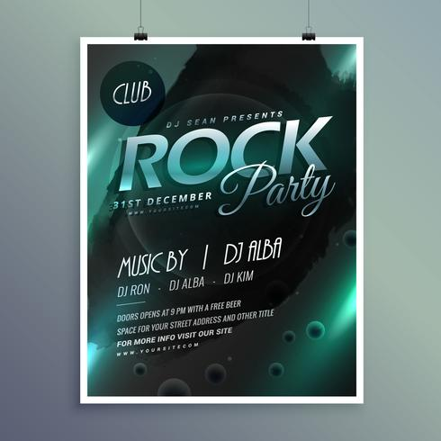 club rock party music flyer template - Download Free Vector Art
