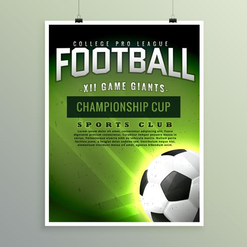football sports championship game flyer template - Download Free