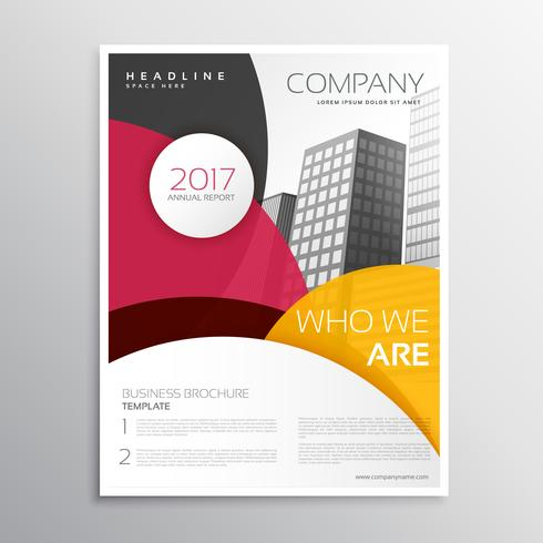 modern company brochure or leaflet template design with abstract - leaflet template