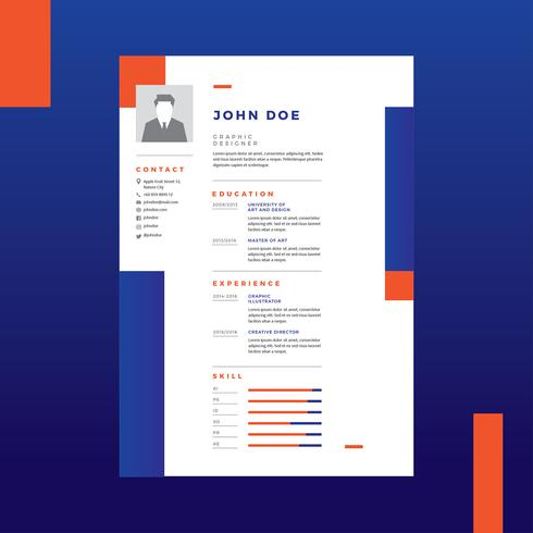 Graphic Designer Resume Vector - Download Free Vector Art, Stock - Resume For Graphic Designer