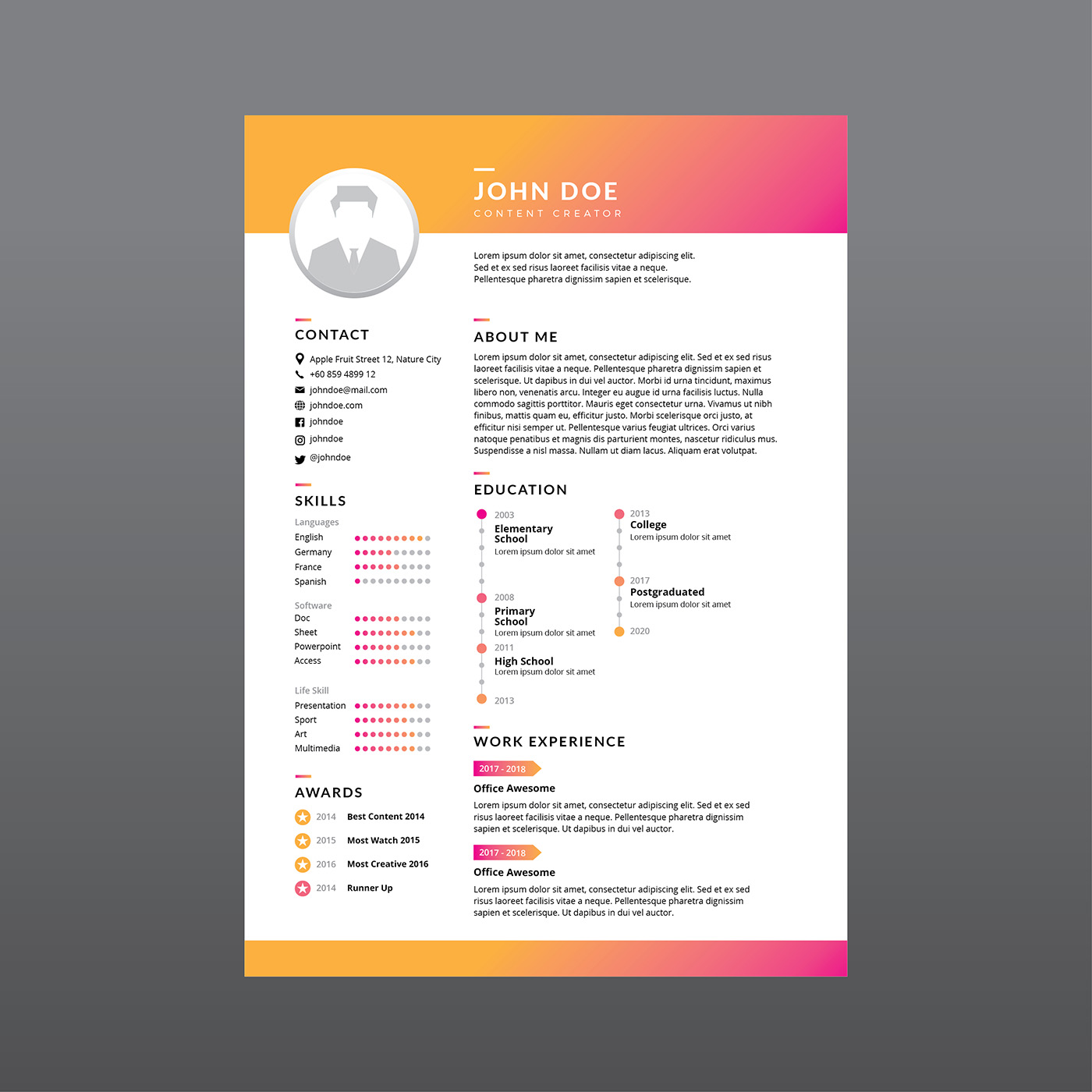 resume design company
