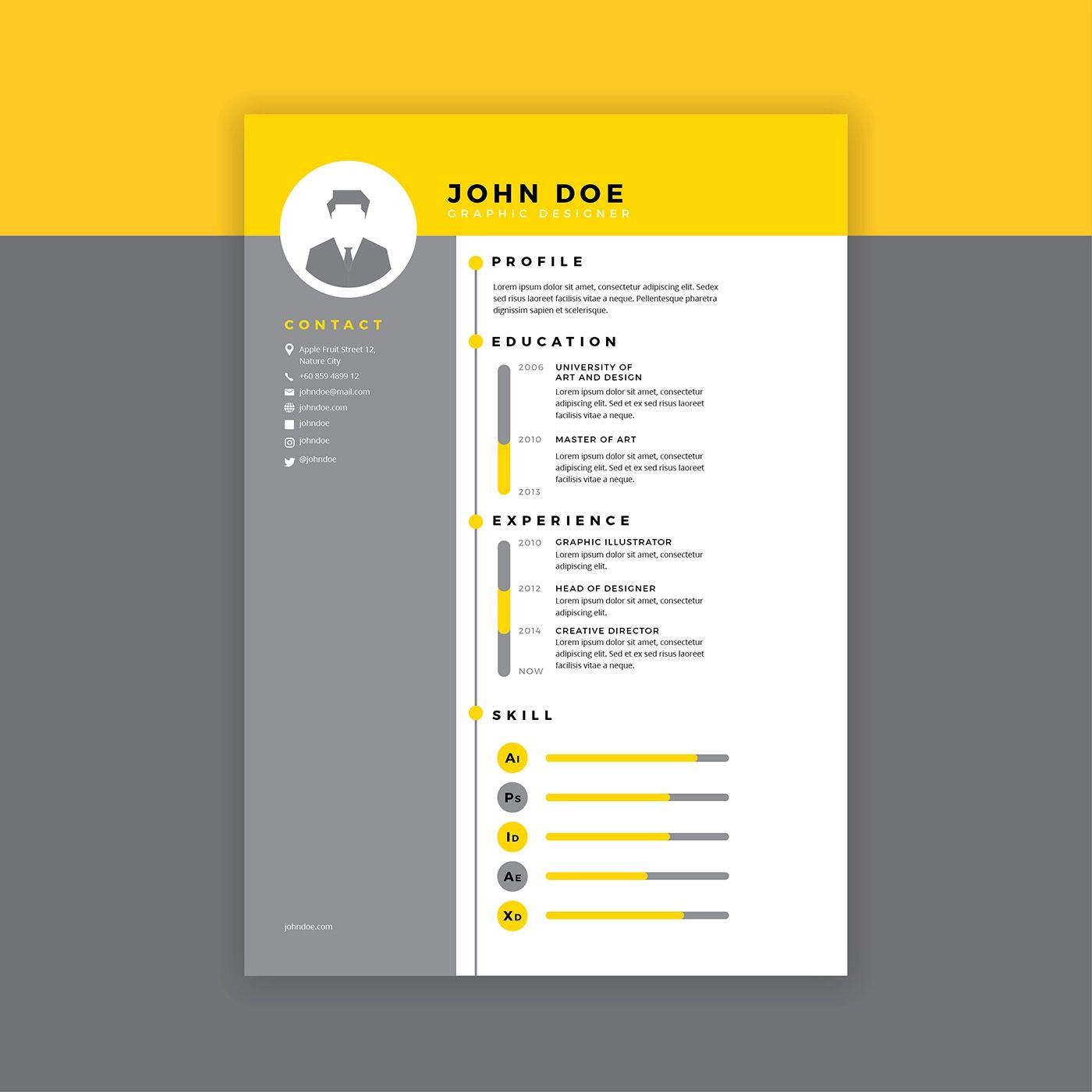 free cv graphic template