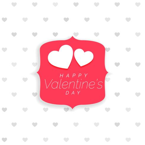 valentine\u0027s day background with hearts pattern and label - Download
