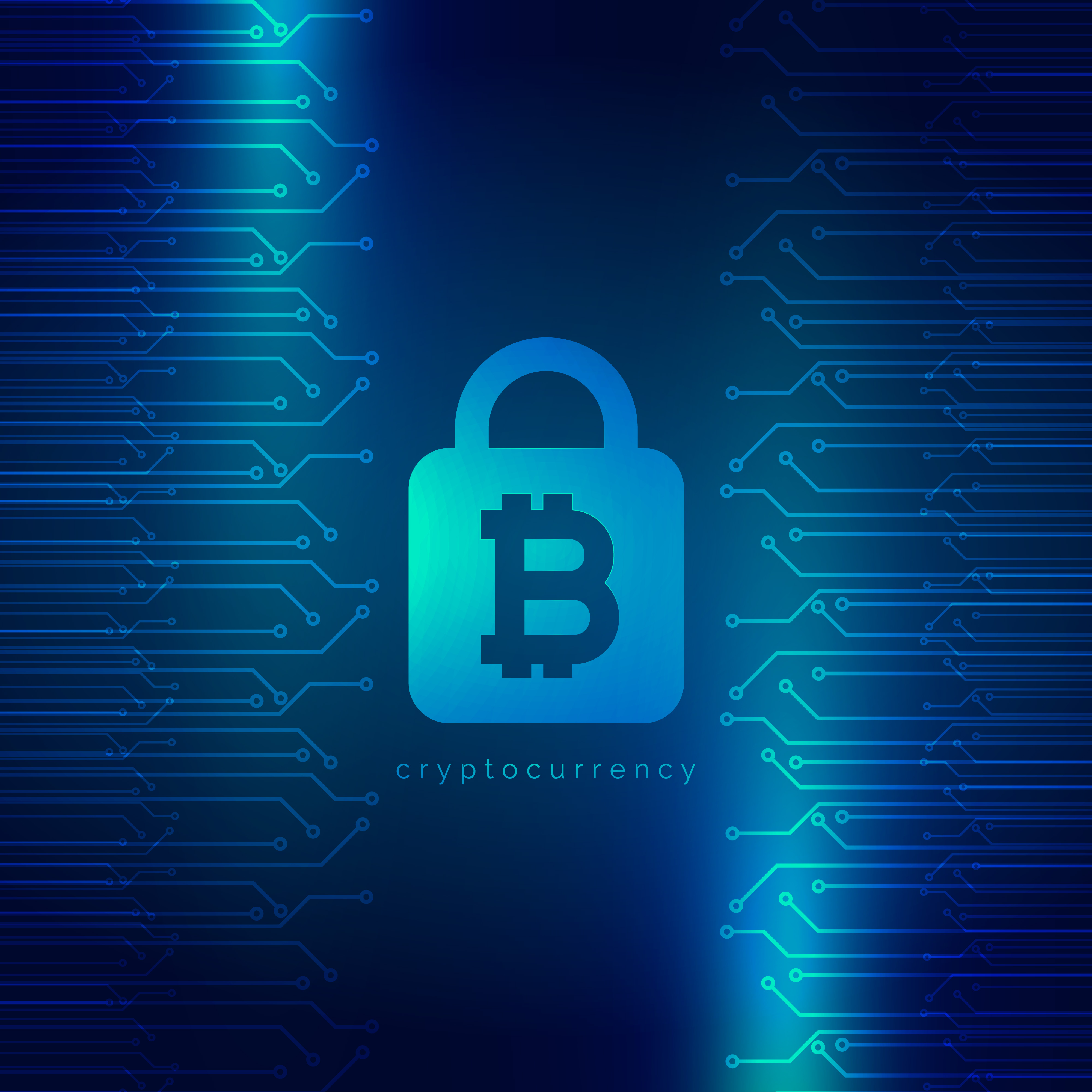 Crypto Wallpaper 3d Secured Digital Internet Cryptocurrency Bitcoin Background