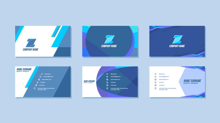 Blue Graphic Design Business Card Free Vector - Download Free Vector