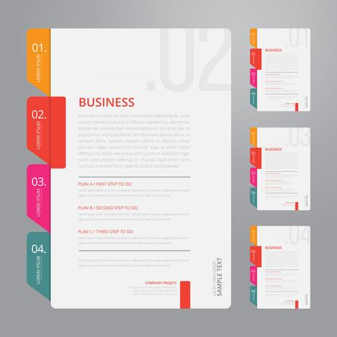 Vector Infographic Index Paper with White Background Template