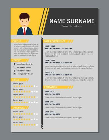Simple corporate resume - Download Free Vector Art, Stock Graphics