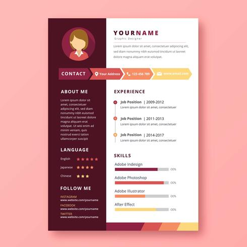 Graphic Designer Resume - Download Free Vector Art, Stock Graphics
