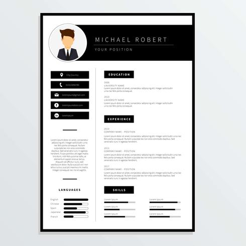 Corporate Resume Template Vector - Download Free Vector Art, Stock - corporate resume template