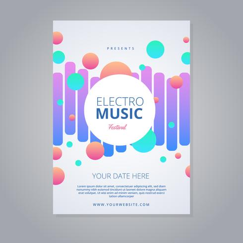 Electro Music Festival Flyer - Download Free Vector Art, Stock
