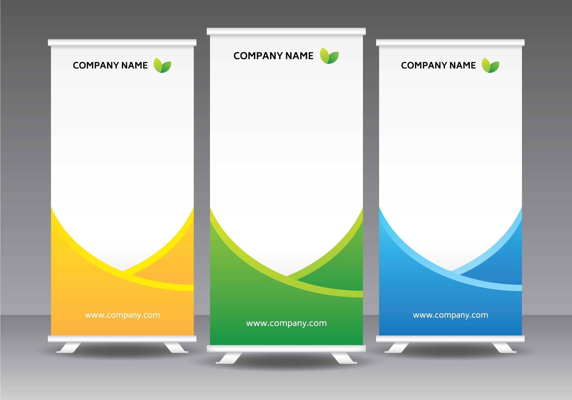 Corporate Standee Template Download Free Vector Art