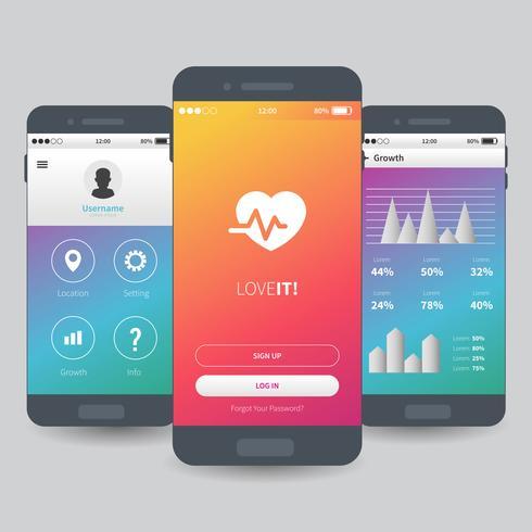 Mobile App UI Template Design - Download Free Vector Art, Stock - free app template