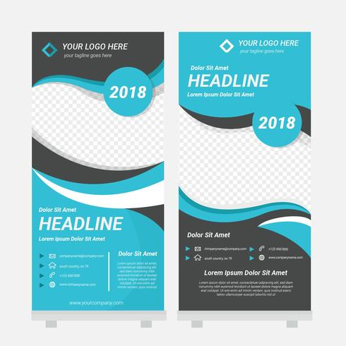 Standee Design Template Vector - Download Free Vector Art, Stock - template