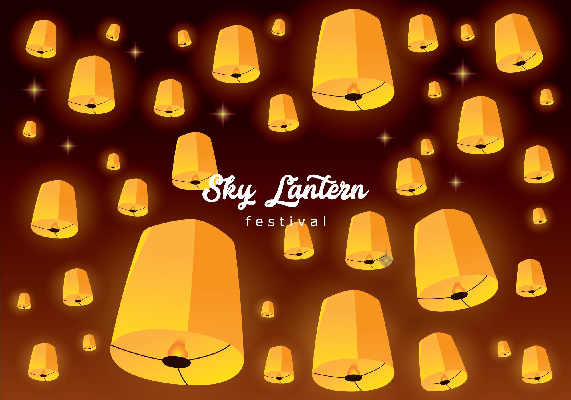 Sky Lanterns Wallpaper Iphone Sky Lantern Floating Background Download Free Vector Art