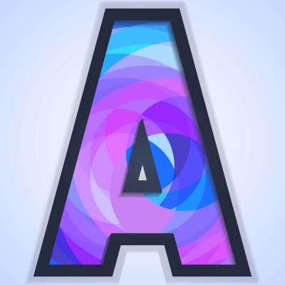 Letra A fondo de tipografía - Descargue Gráficos y Vectores Gratis