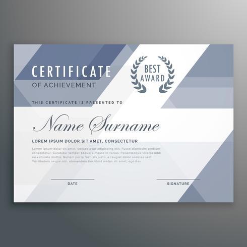 geometric certificate award template vector design - Download Free