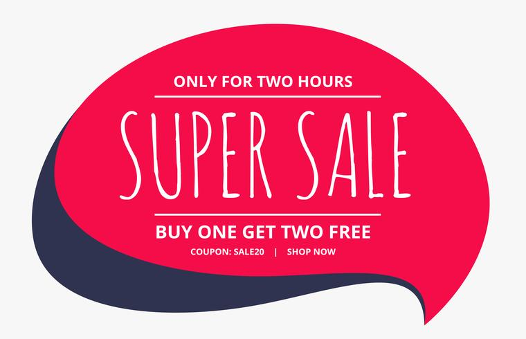 sale poster design with chat bubble - Download Free Vector Art - sale poster design