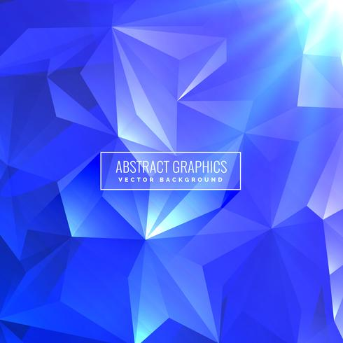 3d Geometric Shapes Wallpaper White Blue Abstract Triangle Low Poly Background Design