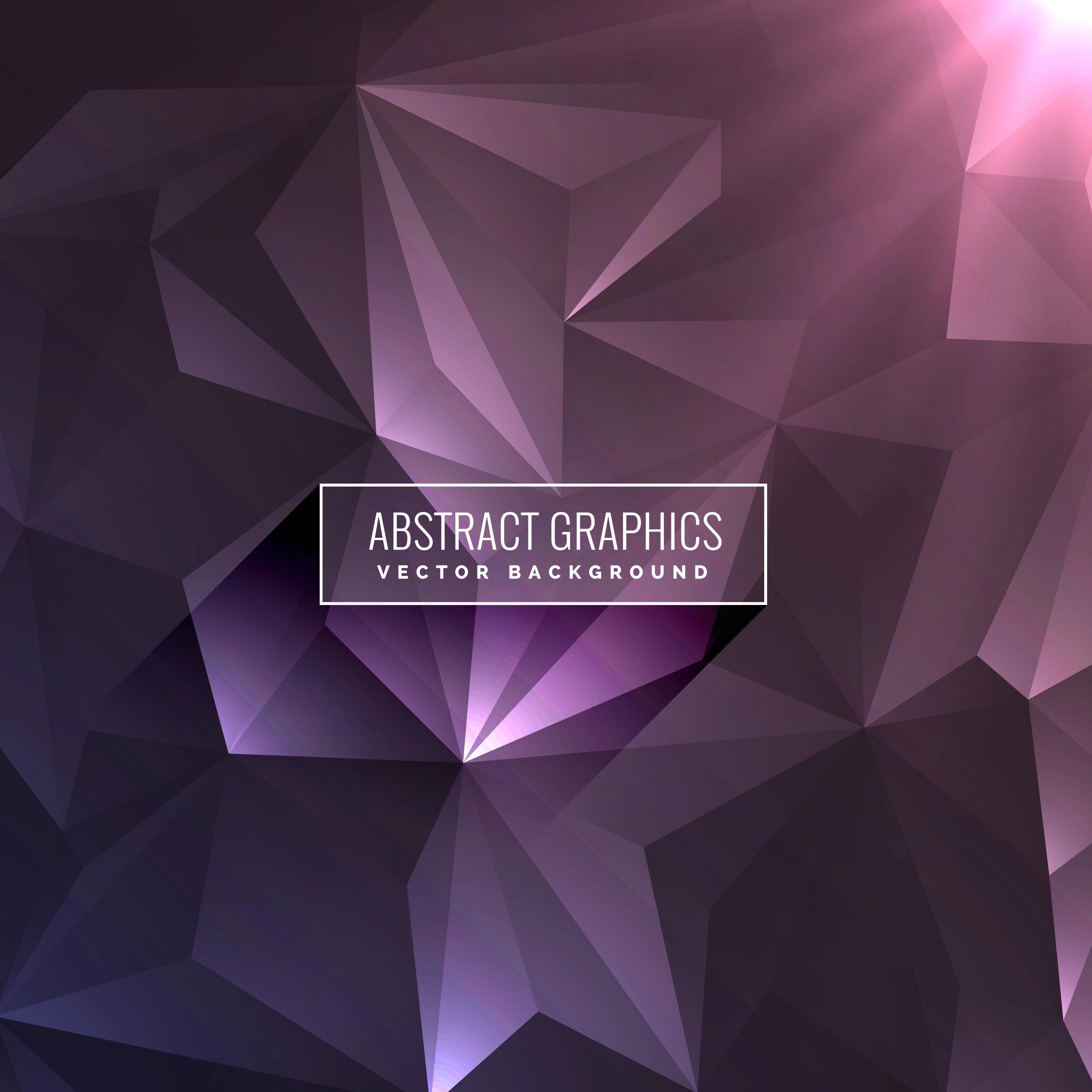 3d Geometric Shapes Wallpaper White Abstract Dark Purple Background With Triangle Shapes