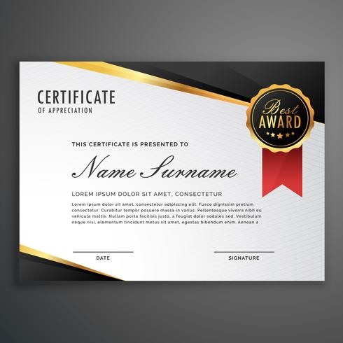 luxurious certificate design vector template - Download Free Vector
