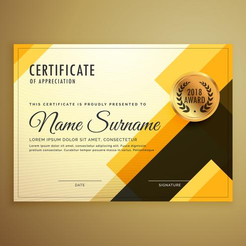 modern creative certificate design template with geometric shape - certificate layout