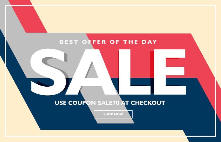 trendy sale poster banner design template - Download Free Vector Art