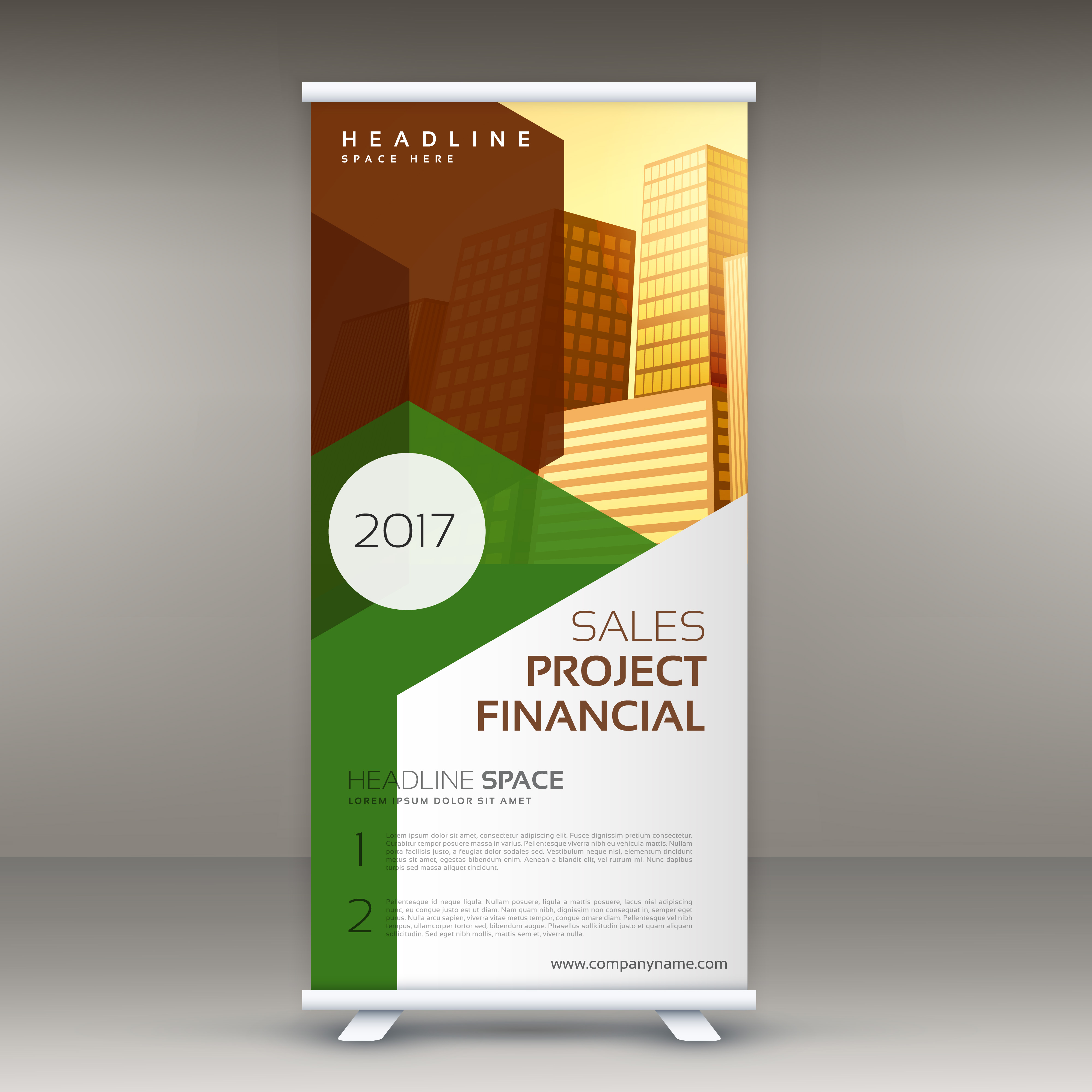 Mockup Free Flyer Rollup Design Template Vertical Standee - Download Free