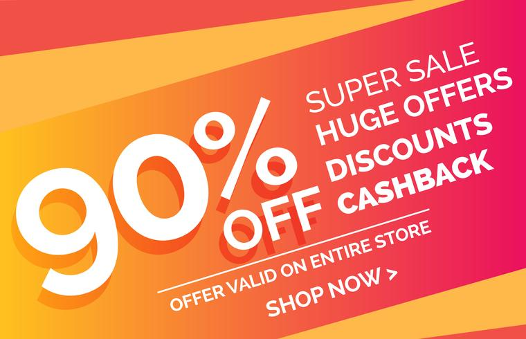 crazy sale offer discount banner voucher template design - Download