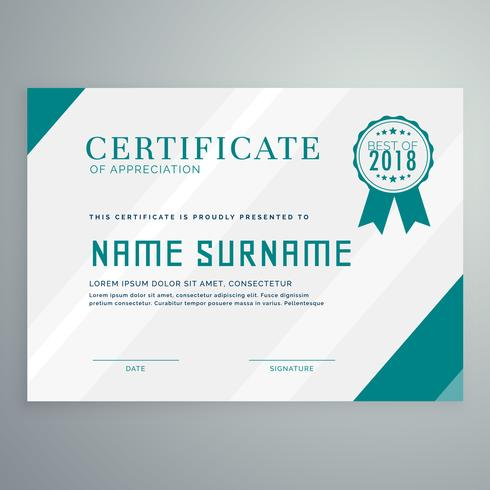 certificate award template with clean and modern pattern - Download