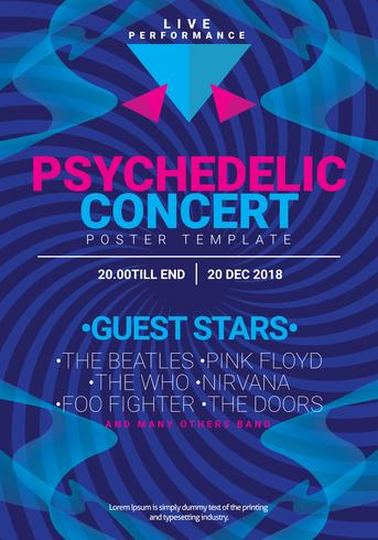 Simple Psychedelic Concert Poster Template - Download Free Vector