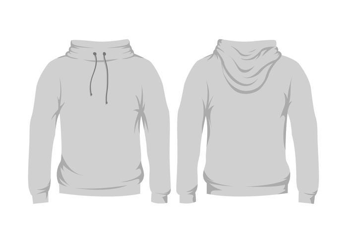 blank grey hooded sweatshirt template - Download Free Vector Art