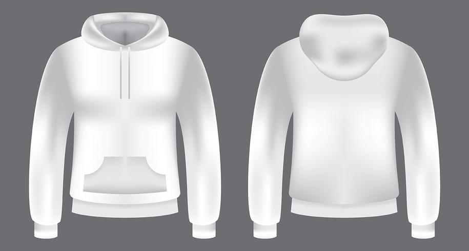Blank Hooded Sweatshirt Template - Download Free Vector Art, Stock
