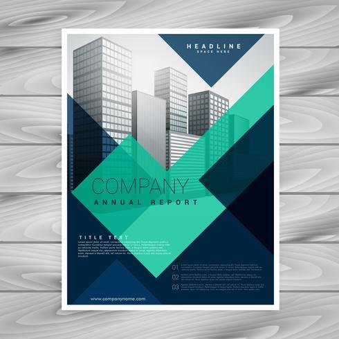 blue geometric company brochure template design - Download Free - company brochure templates