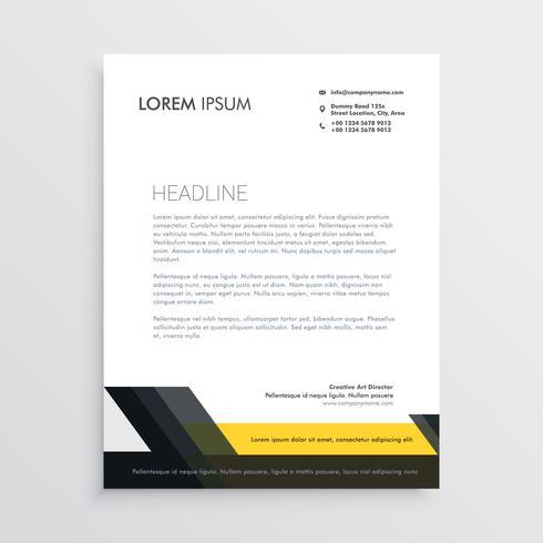 business letterhead design template - Download Free Vector Art - business letterhead