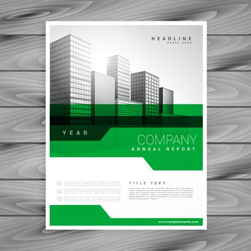 abstract green geometric company brochure template design - Download - Company Brochure Templates