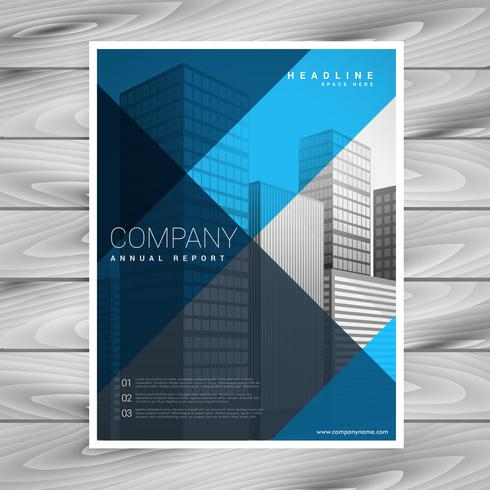 abstract blue company brochure template design - Download Free