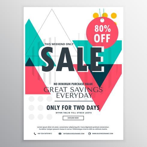 abstract promotional sale flyer poster design with colorful geom - sale poster design