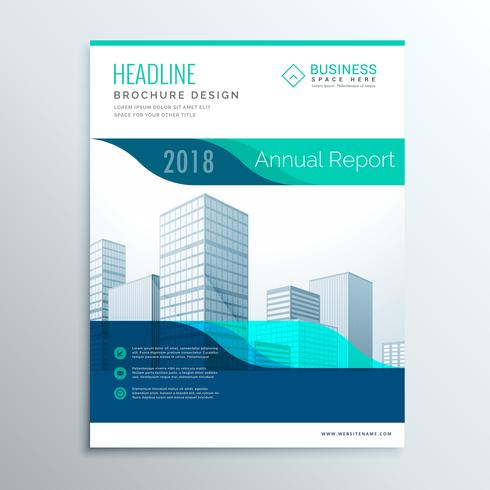 modern blue annual report brochure flyer template design for you