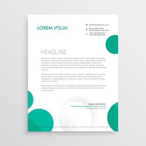 creative circles letterhead design template vector - Download Free