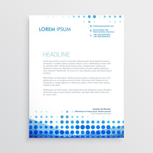 creative blue business letterhead design - Download Free Vector Art - business letterheads