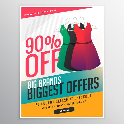 fashion sale discount promotional brochure flyer template with d - advertising brochure template