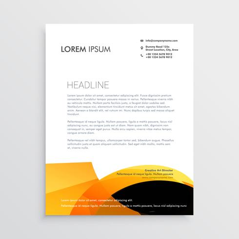 Modern Stationery Set In Vector Format, Letterhead, Business