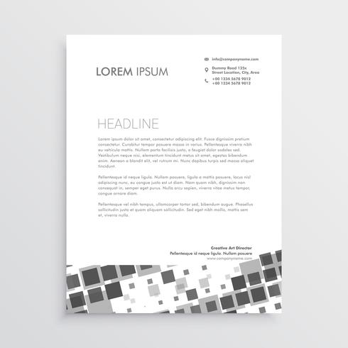 abstract mosaic letterhead design template - Download Free Vector