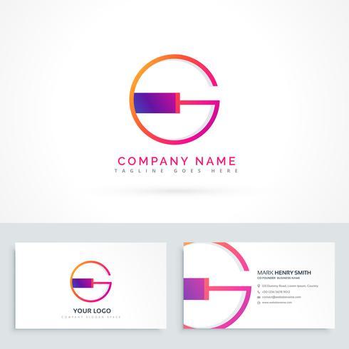 letter G logo design template - Download Free Vector Art, Stock