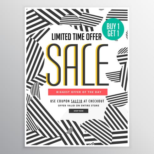 modern trendy sale poster banner design concept - Download Free