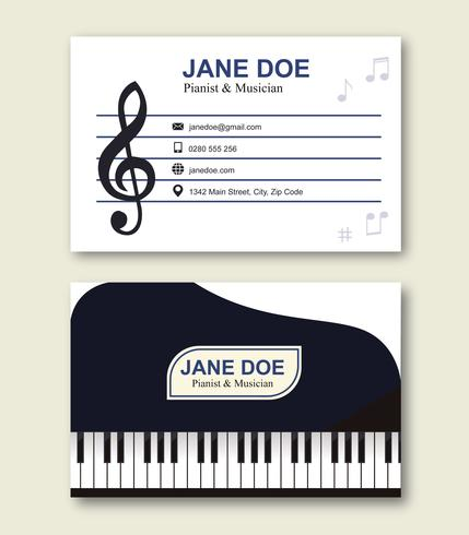 Musician Business Card Template - Download Free Vector Art, Stock