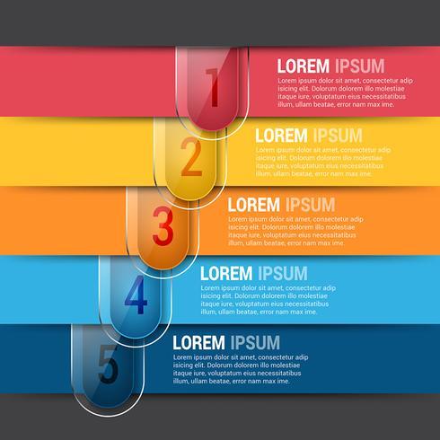 Horizontal Editable Infographics Design Template - Download Free
