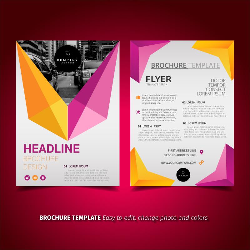 Modern Brochure Design - Download Free Vector Art, Stock Graphics