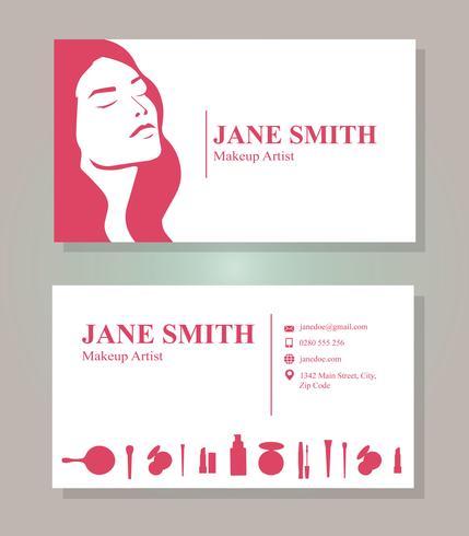 Makeup Artist Business Card Template - Download Free Vector Art
